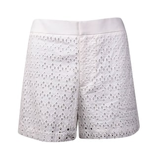 Calvin Klein Women's Eyelet Cotton Shorts (8, Soft White) - Soft White|https://ak1.ostkcdn.com/images/products/is/images/direct/976bb811dac402e354a5ef0c75077a7e9cdb977b/Calvin-Klein-Women%27s-Eyelet-Cotton-Shorts-%288%2C-Soft-White%29.jpg?impolicy=medium