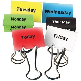 Days Of The Week Teacher Clips 6Pk 2In