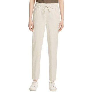 Theory Womens Linen Pants Khaki Linen