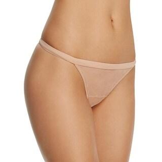 La Perla Womens Nude Beige Jazz Time Sheer Mesh Lace Thong Large L