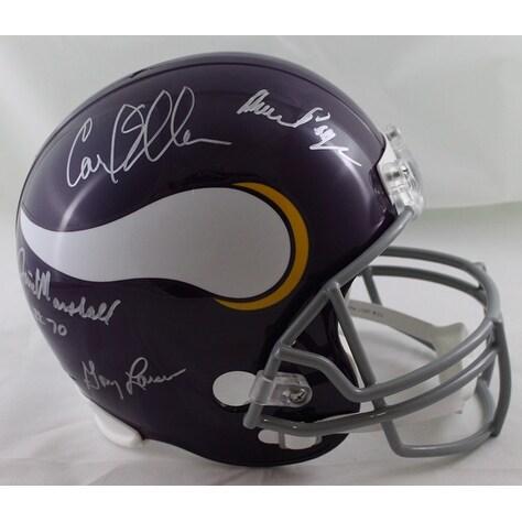 Purple People Eaters Autographed Minnesota Vikings Full Size Replica Helmet PPE JSA