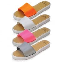 48 PieceLadies Sandals - Orange, White, Pink & Gray