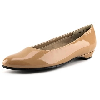 Rose Petals by Walking Cradles Butter 2 N/S Round Toe Patent Leather Flats