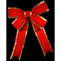 Christmas at Winterland WL-BOW-36-RE/GO 36 Inch Red with Gold Trim Holiday Bow