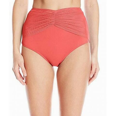 Coco Reef Orange Womens Large L Mesh High-Waist Swim Bikini Bottom