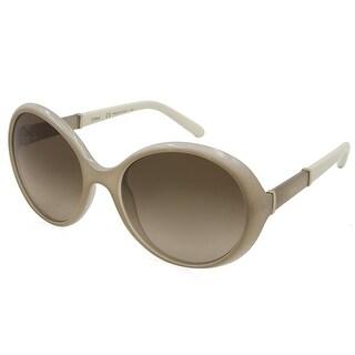 Chloe Womens Daisy Round Sunglasses Oversized Fashion - light turtledove - o/s