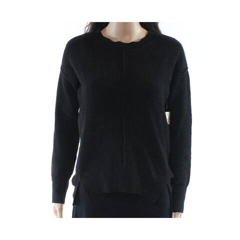 Pink Rose Womens Small Crewneck Slit-Hem Sweater