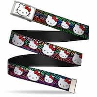 Hello Kitty Face Fcg White Bo Chrome Hello Kitty Multi Faces Zebra Web Belt