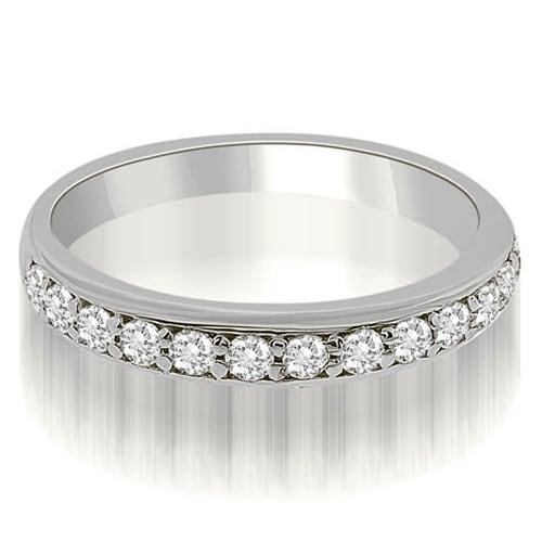 0.35 cttw. 14K White Gold Classic Round Cut Diamond Wedding Ring