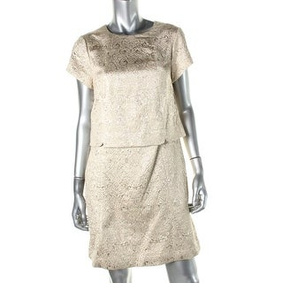 Tory Burch Womens Brielle Jacquard Metallic Cocktail Dress - 12