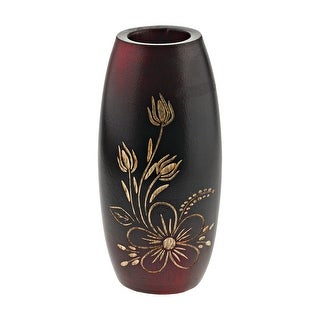 Link to Handmade Bold and Vibrant Flower Garden Red Mango Tree Wood Flower Vase (Thailand) Similar Items in Decorative Accessories