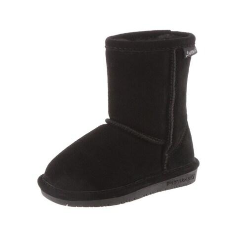 Bearpaw Boots Girls Emma Pull on Stylish Suede Wool