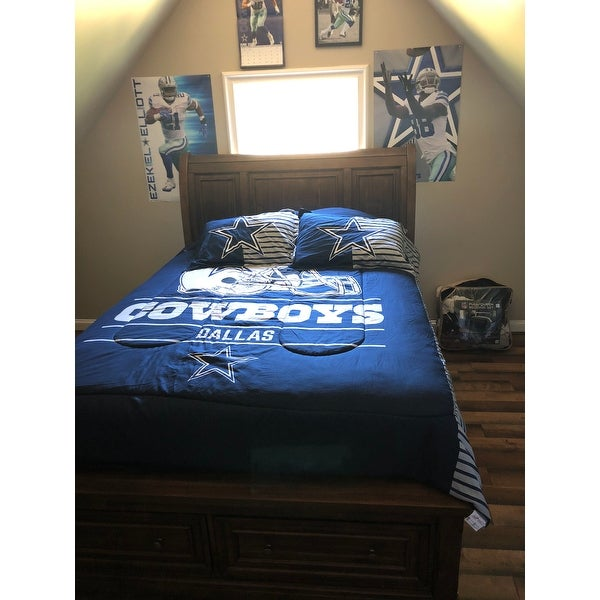 Shop The Northwest Co NFL Dallas Cowboys Draft Full/Queen 3 Piece Comforter  Set   On Sale   Free Shipping Today   Overstock   13261379