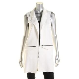 TopShop Womens Notch Collar Open Front Vest - 6