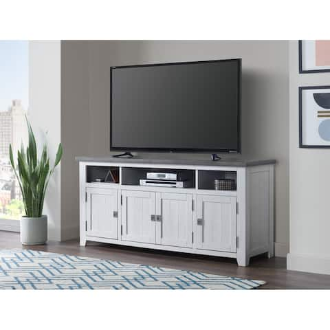 Foundry White and Grey TV Stand by Martin Svensson Home