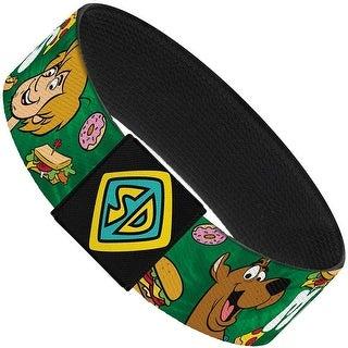 Scooby Doo & Shaggy Munchies Food Tie Dye Greens Elastic Bracelet