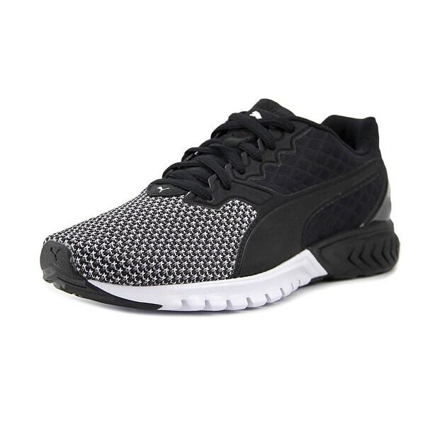 Puma Ignite Dual Nylon Men Round Toe Synthetic Black Running Shoe