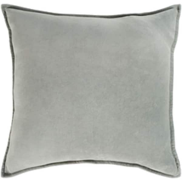 "20"" Chastity's Blush of Pureness Dark Timberwolf Silver Decorative Throw Pillow - Down Filler"