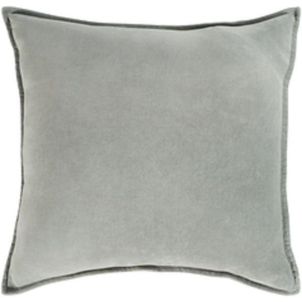"22"" Chastity's Blush of Pureness Dark Timberwolf Silver Decorative Throw Pillow - Down Filler"