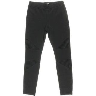 Aqua Womens Ponte Pintuck Pants