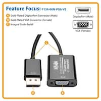 Tripp Lite - 6In Displayport To Vga Adapter Active Converter Dp To Vga M/F 6 In
