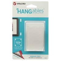 "Velcro 95183 HANGables Removable Wall Fastener, White, 1-3/4"" W x 3"" L"