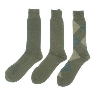 Cole Haan Mens Cotton 3PK Dress Socks - o/s