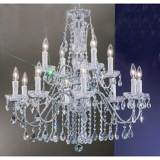 """Classic Lighting 8389-CH 29"""" Crystal Chandelier from the Daniele Collection"""