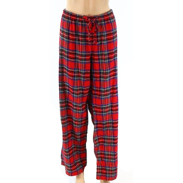 Pajamagram NEW Red Womens Size Large L Plaid Flannel Lounge Pants