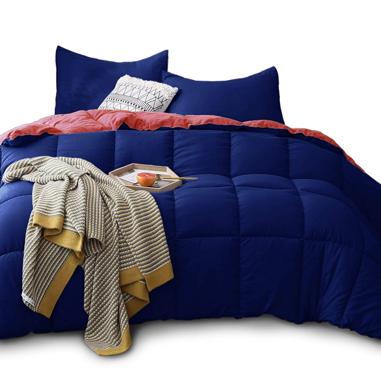 Kasentex Down Alternative Comforter Set Reversible Duvet Insert On Sale Overstock 27588477