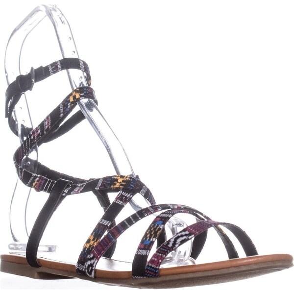 Indigo Rd. Camryn Flats Sandal, Red Multi - 7 us