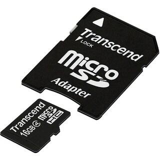Transcend 16 GB Class 4 microSDHC Flash Memory Card TS16GUSDHC4