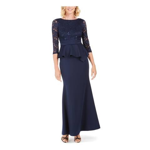 JESSICA HOWARD Navy Long Sleeve Maxi Dress 8