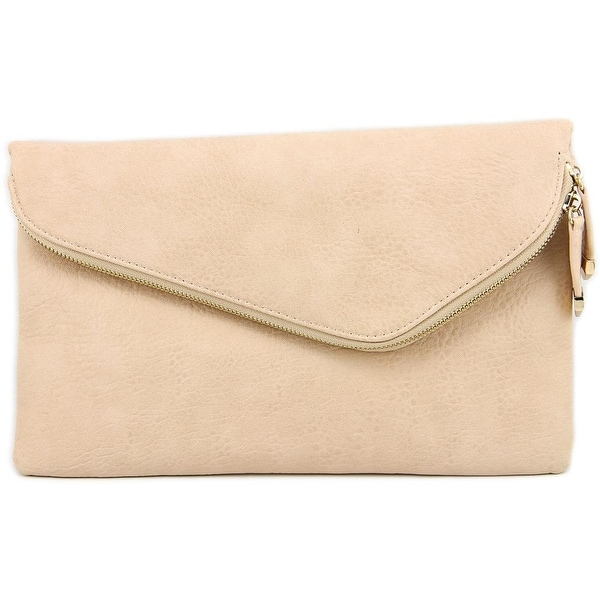 Urban Expressions Stella Envelope Clutch Women Synthetic Clutch - Beige