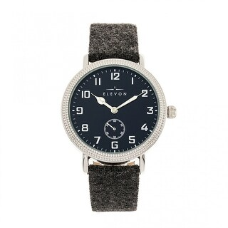 Elevon Northrop Leather-Band Watch - Charcoal/Navy
