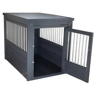 New Age Pet Espresso Dog Crate W/ Metal Spindles S|https://ak1.ostkcdn.com/images/products/is/images/direct/977a02a0733cf351f08a3d73ae2843dde99fb317/New-Age-Pet-Espresso-Dog-Crate-W--Metal-Spindles-S.jpg?impolicy=medium