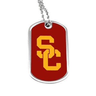 USC Trojans Dog Tag Domed Necklace Charm Chain NCAA