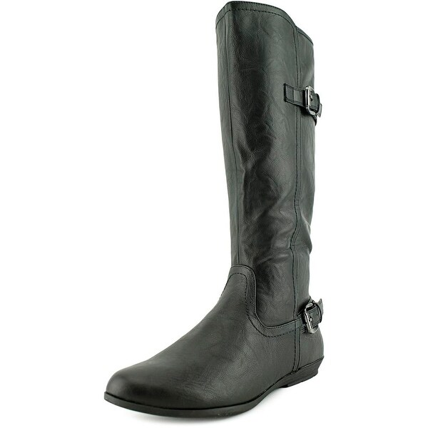 White Mountain Finalist Women Round Toe Synthetic Black Knee High Boot