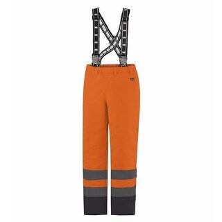 Helly Hansen Workwear Mens Alta Insulated Pant High Visibility - Orange/Charcoal - 2XL