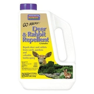 Bonide 227 Go Away Deer & Rabbit Repellent Granules, 3 lbs