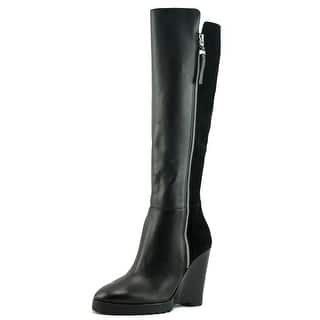 Michael Michael Kors Clara Wedge Boot Women Leather Black Knee High Boot|https://ak1.ostkcdn.com/images/products/is/images/direct/977c0c56c70aa8f081c87936515f1b847edf487e/Michael-Michael-Kors-Clara-Wedge-Boot-Women-Open-Toe-Leather-Black-Wedge-Heel.jpg?impolicy=medium