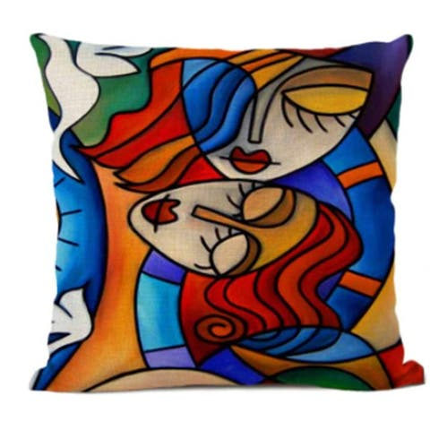Picasso Style Abstract Pillow Covers