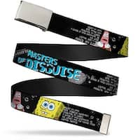 Blank Chrome Buckle Sponge Bob & Patrick Starfish Spy Profile Masters Web Belt