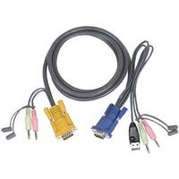 Iogear G2l5305u 15 Feet Micro-Lite Bonded All-In-One Usb Kvm Cable