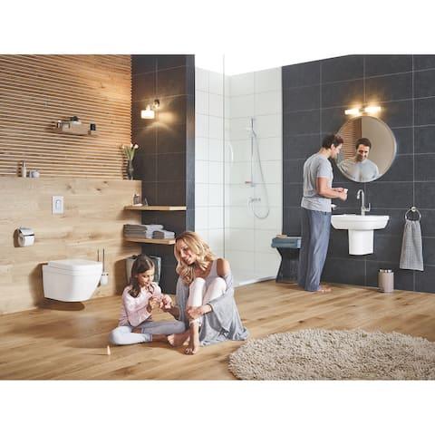 Grohe Essentials Bathroom Paper Holder W/Cover Chrome (40367001)