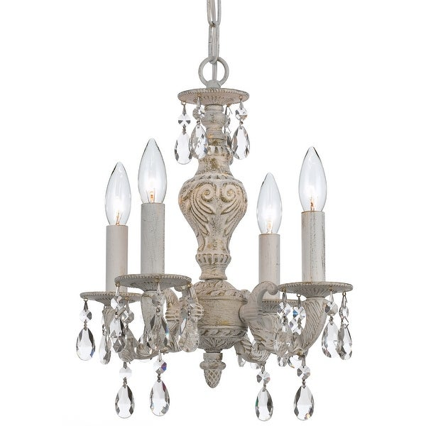 Paris Market 4 Light Spectra Crystal White Mini Chandelier - 13.5'' W x 15'' H. Opens flyout.