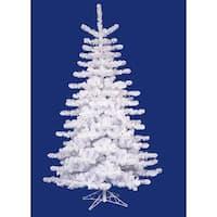7.5' Pre-Lit Crystal White Medium Artificial Christmas Tree - Multi Lights
