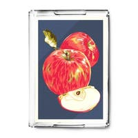 Apple - Letterpress - Lantern Press Artwork (Acrylic Serving Tray)