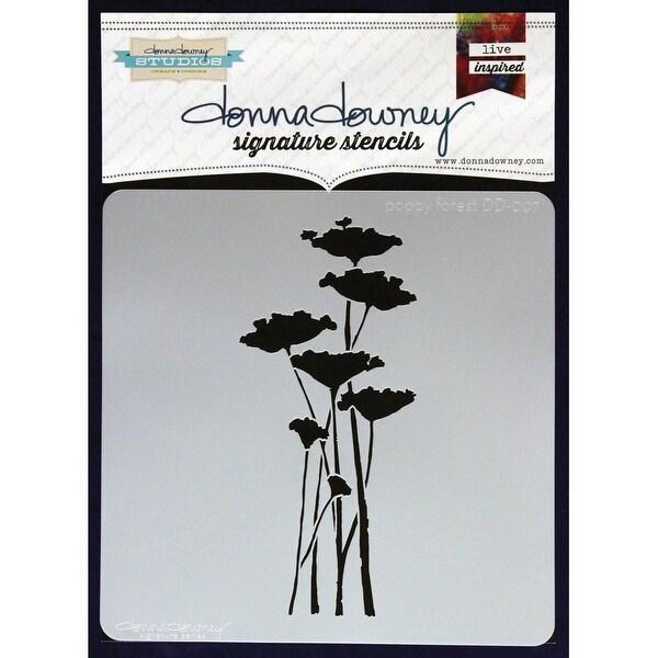 "Donna Downey Signature Stencils 8.5""X8.5""-Poppy Forest"