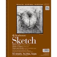 "100 Sheets - Strathmore Sketch Spiral Paper Pad 11""X14"""
